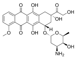 Doxorubicin chemical structure.png