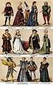 Dräkt, 15e och 16e århundradet, Nordisk familjebok.jpg