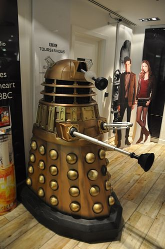 Dalek - Time War Dalek model on display at the BBC Shop in London, demonstrating their design in the revived series
