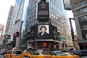 Donna Nelson - Dr. Donna J Nelson Times Square photo related to her speaking in NYC on August 4, 2015