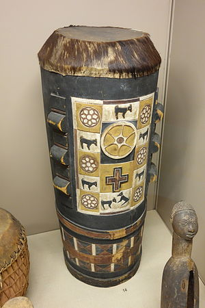 African art in Western collections - A Kongo drum in the ethnographic collection of the Royal Museum for Central Africa.