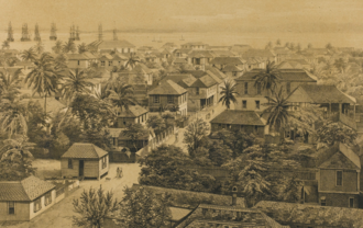 Falmouth, Jamaica - Falmouth in the 1840s by Adolphe Duperly