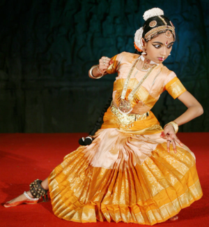 Dancer of Sri Devi Nrithyalaya depicting Durga...