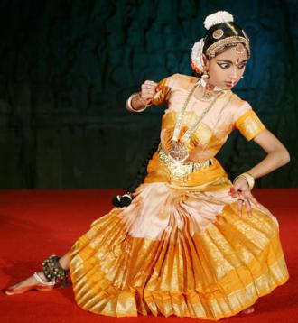 Indian aesthetics - Raudram rasa of the destructive fury of goddess Durga in Bharatanatyam