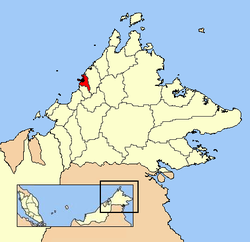 Location in Malaysia and Sabah