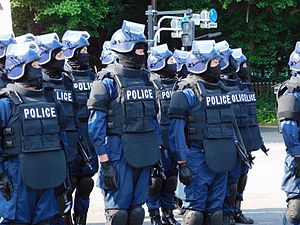 Riot Police Unit - The Emergency Response Team (ERT) of the TMPD.