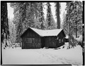EXTERIOR, WEST VIEW - Giant Forest Lodge Historic District, Registration Building, Three Rivers, Tulare County, CA HABS CAL,54-THRIV.V,1-A-4.tif