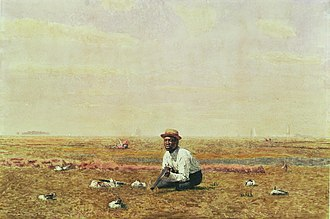 Silas Weir Mitchell (physician) - Image: Eakins, Whistling For Plover 1874