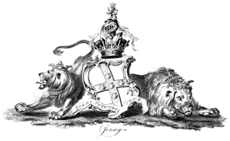 George Villiers, 4th Earl of Jersey - Arms of the 4th Earl of Jersey in 1790