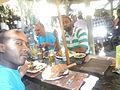 Eating of food in Namibia.JPG