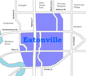 Eatonville, Toronto - North on the West Mall