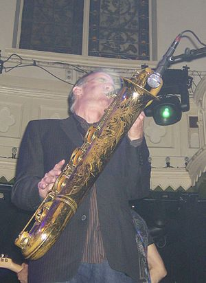 Ed Manion - Manion performing with the Asbury Jukes in Amsterdam, 2007