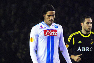 Edinson Cavani - Cavani playing against AIK in the Europa League