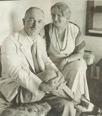 Edvard Beneš - Beneš with his wife, 1934.