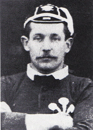 Edward Pegge - Pegge in Welsh jersey