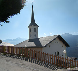 The church of Saint-Barthelemy, in Granier