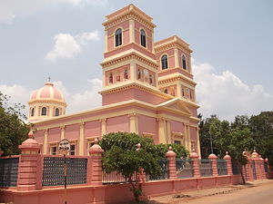 Our Lady of Angels Church, Puducherry - Front view of the church