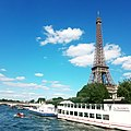 Eiffel Tower by the River Seine.jpg