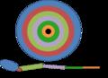 Ejemplo del disco imaginal de una pata de mosca. Se observa la determinación de las células de cada zona para formar un segmento específico del apéndice..png