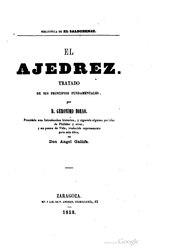 Jerónimo Borao y Clemente: Español: El ajedrez