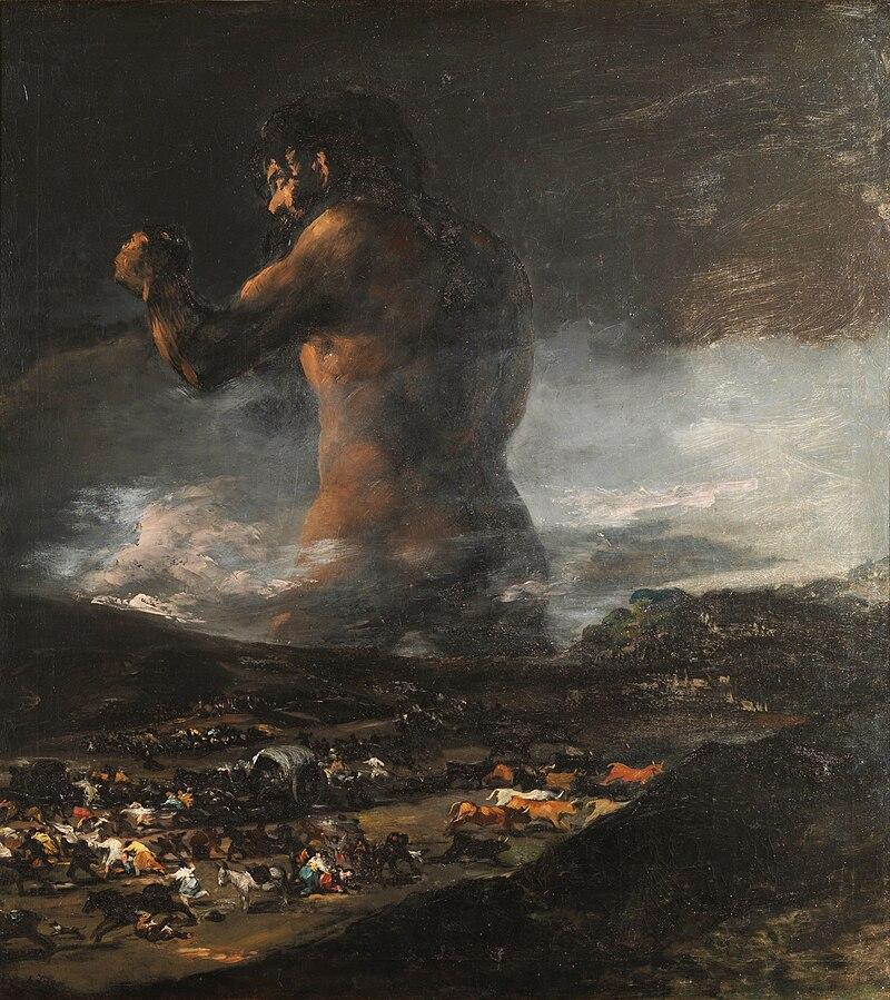 Pintura: El coloso - Francisco de Goya