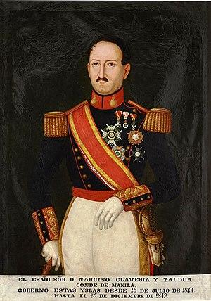 Narciso Clavería y Zaldúa - Image: El teniente general Narciso Clavería y Zaldúa, conde de Manila (Museo del Prado)