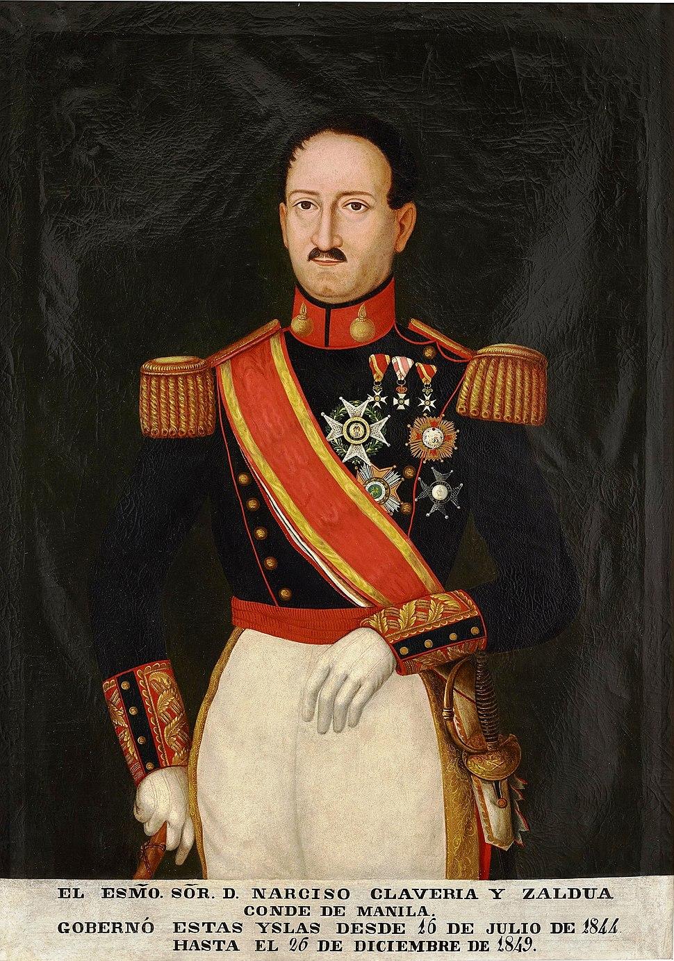 El teniente general Narciso Clavería y Zaldúa, conde de Manila (Museo del Prado)