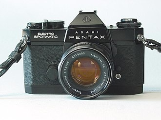Pentax cameras - Electro-Spotmatic with Super-Takumar 1:1.8 55mm lens