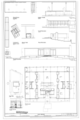 Elevations, floor plan, site plan, details including profile of island, column and beam axon - Lee House , 3714 Country Ridge Road, Charlotte, Mecklenburg County, NC HABS NC-415 (sheet 1 of 1).png