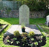 photograph of grave in churchyard