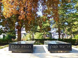 Eliezer Kaplan - Image: Eliezer Kaplan's grave 2
