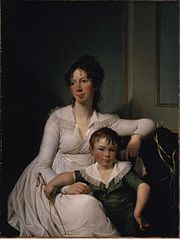 Portrait of Elisabeth Henriette Bruun de Neergaard with her eldest son Henrik