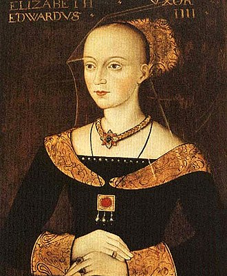 Elizabeth Woodville - Portrait of Elizabeth Woodville as Queen of England c.1472