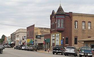National Register of Historic Places listings in Ellsworth County, Kansas - Image: Elsworth, Kansas E side Douglas N of 115