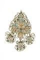 Emaljerad baksida på örhänge från 1600-talets sista hälft - Livrustkammaren - 97838.tif
