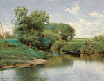 Emilio Sánchez-Perrier Boating on the River.jpg