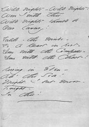 "Dickinson's handwritten manuscript of her poem ""Wild Nights – Wild Nights!"""