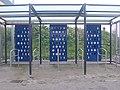 Empty Bicycle racks, Gallions Reach DLR station, London E16 Apr 2009.jpg