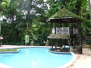 The Enchanted Gardens, Jamaica - The swim-up bar at the Enchanted Gardens in 2010.