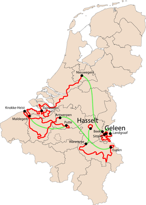 2007 Eneco Tour - Overview of the stages