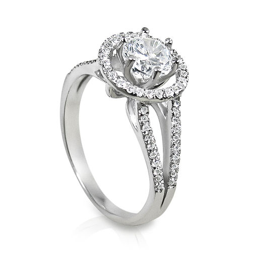 Engagement ring white gold
