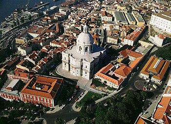 Vista aérea del Panteón Nacional, cortesía del IPPAR.