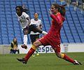 Eniola Aluko England Ladies v Montenegro 5 4 2014 328.jpg