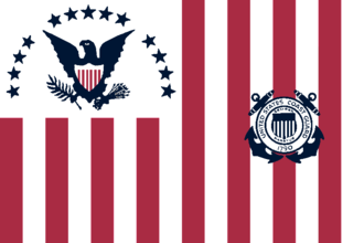 Former Coast Guard ensign, used from 1915 to 1953 Ensign of the United States Coast Guard (1915-1953).png