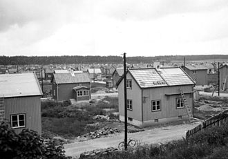 Enskedefältet - Enskedefältet while being built in 1932