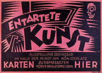 En Canot - Entartete Kunst poster, Berlin, 1938