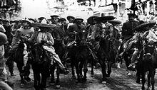 Entrada de los generales Villa y Zapata a la ciudad.