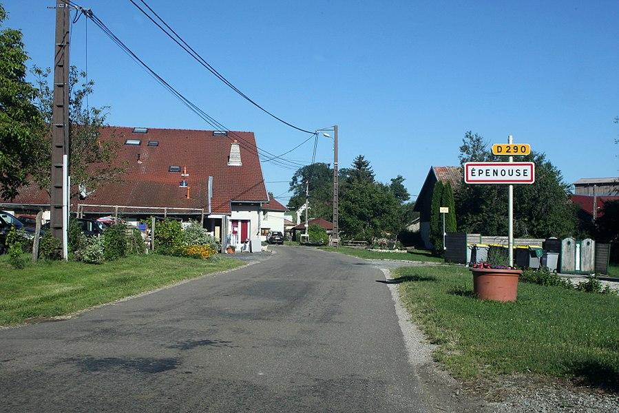 Entrée d'Épenouse (Doubs).
