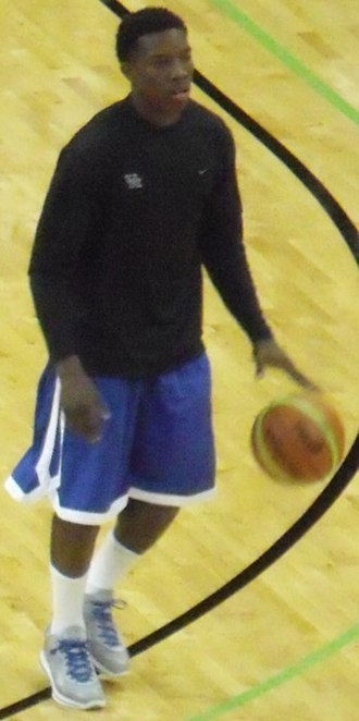 Eric Bledsoe - Bledsoe warming up before a game in 2010 while he was at Kentucky.