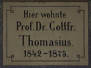Gottfried Thomasius German theologian